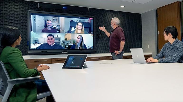 Hybrid meeting with Microsoft Teams and Nureva