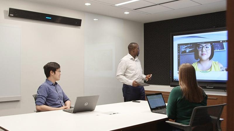 Microsoft Teams meeting with Nureva audio