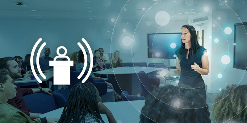 Nureva audio conferencing's new Active Zone Control feature in higher-ed