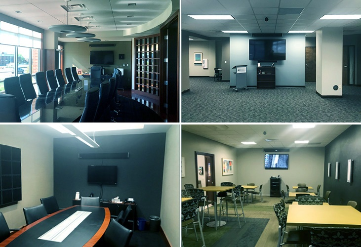 Williams Keeper meeting spaces featuring Nureva HDL300 audio conferencing system