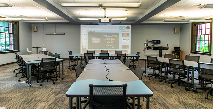 Nureva HDL300 in UNC active learning classroom