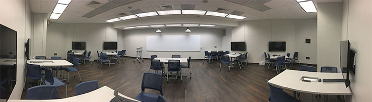 active learning classroom at Brevard College