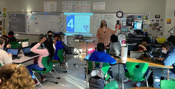 Hybrid learning classroom with Nureva audio