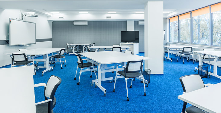 Active learning classroom setup