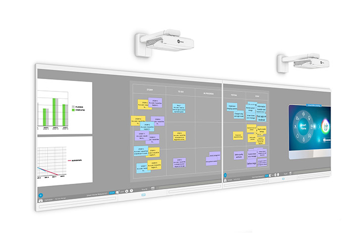 Nureva™ Wall model WM408i featuring Span™ Workspace
