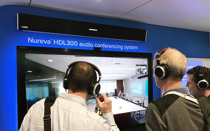 Live Nureva audio demo at ISE