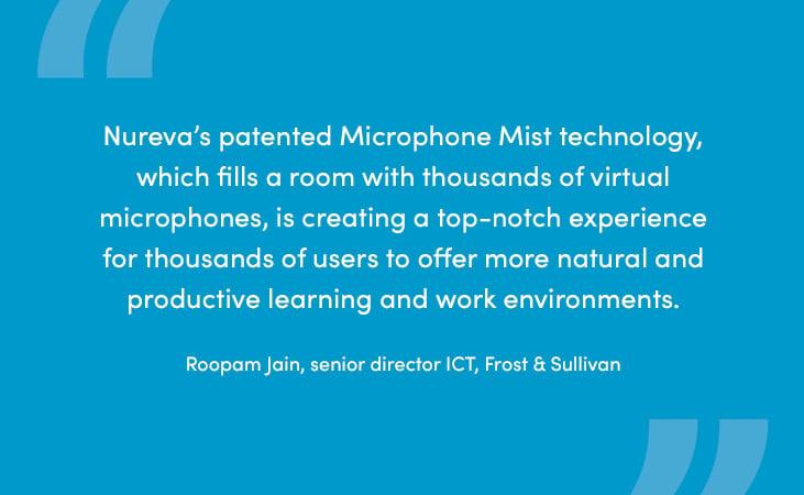 Frost & Sullivan analyst describes Microphone Mist technology