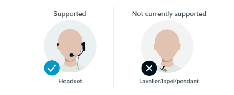 Supported headsets for Voice Amplification Mode in Nureva audio