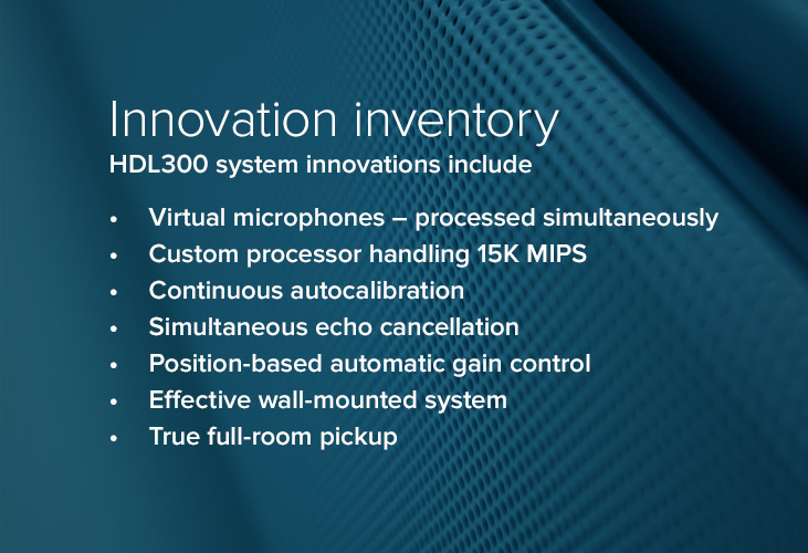 Innovation features of the Nureva HDL300 audio conferencing system
