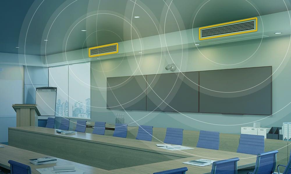 Intelligent sound targeting - In room audio illustration
