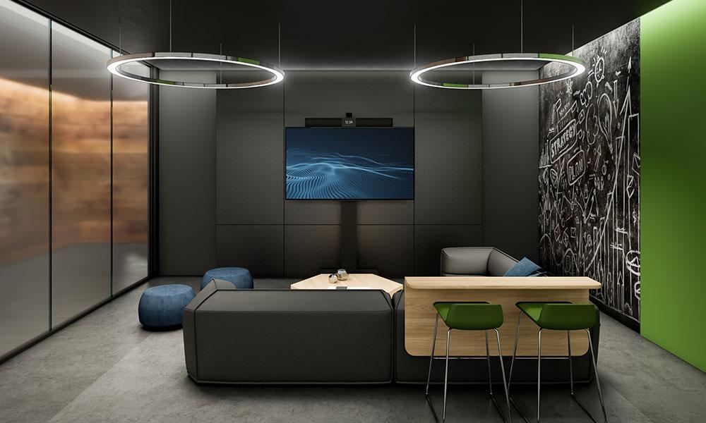 Mid-sized studio meeting space
