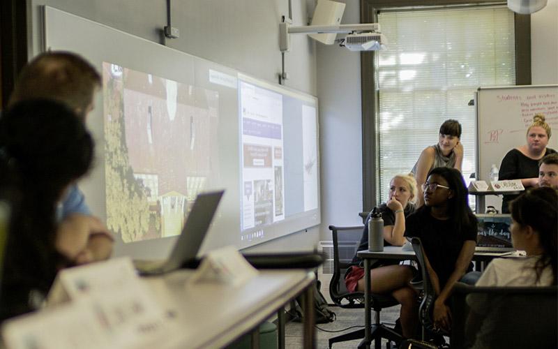 University of North Carolina at Chapel Hill students using Nureva Wall and Span Workspace