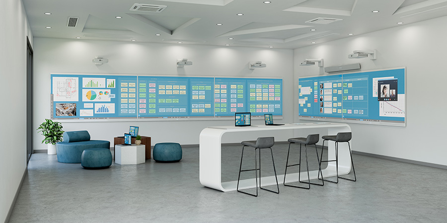 Digital agile sticky note wall