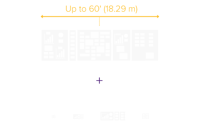 Nureva Wall and Span Workspace infographic