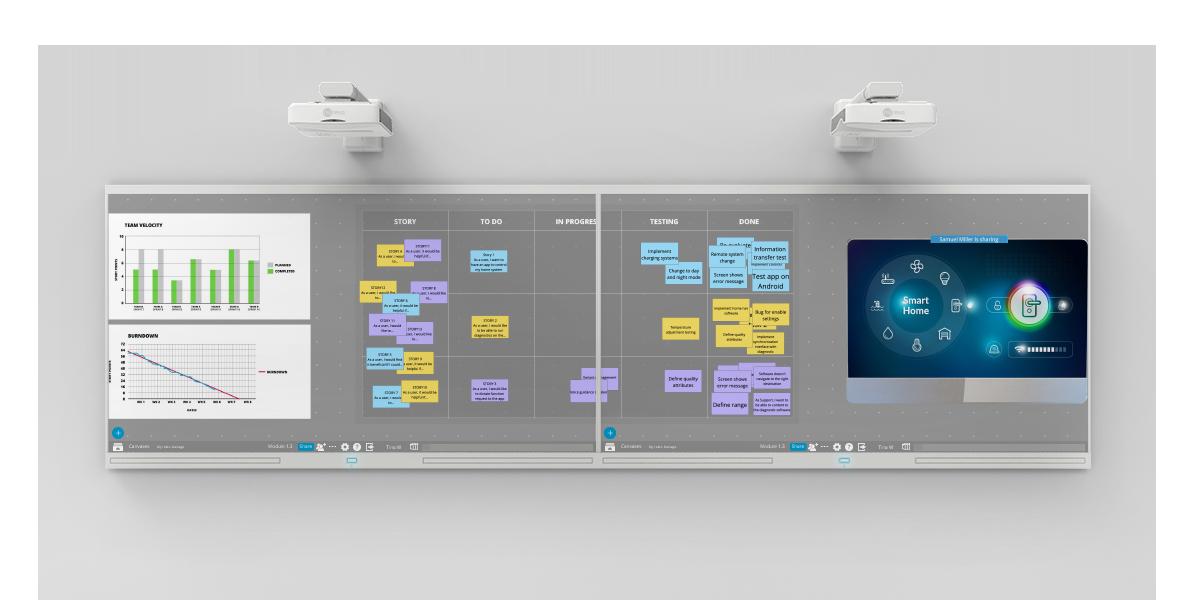 Nureva™ Wall WM408i featuring Span Workspace